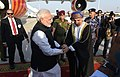The Prime Minister, Shri Narendra Modi being received by the Deputy Prime Minister Oman, Fahd bin Mahmood Al Said, on his arrival, in Muscat, Oman on February 11, 2018.jpg