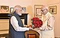 The Prime Minister, Shri Narendra Modi calls on Advani Ji to greet him on his birthday, in New Delhi on November 08, 2017.jpg