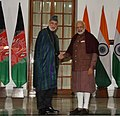 The Prime Minister, Shri Narendra Modi meeting the former President of the Islamic Republic of Afghanistan, Mr. Hamid Karzai, in New Delhi on December 16, 2017 (2).jpg