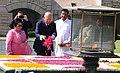 The Prime Minister of Malaysia, Dato' Sri Mohd Najib Bin Tun Abdul Razak paying floral tributes at the Samadhi of Mahatma Gandhi, at Rajghat, in Delhi on April 01, 2017.jpg