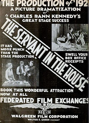 The Servant in the House - Ad for film