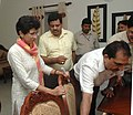 The Union Minister of Housing and Urban Poverty Alleviation & Tourism, Kum. Selja visited and showcase the first room upgraded and furnished by the ITDC for the visitors during Common Wealth Games 2010 in the DDA flats.jpg