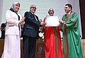 The Vice President, Shri M. Hamid Ansari being conferred an honoris causa degree by Mohammed V University, in Rabat, Morocco on June 01, 2016. The Prime Minister of Morocco, Mr. Abdelilah Benkirane is also seen.jpg