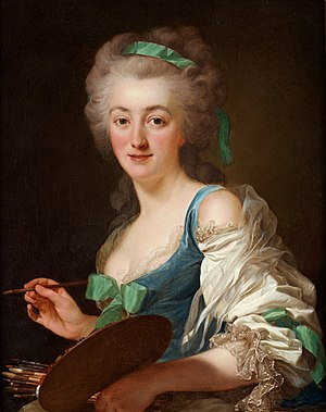 Anne Vallayer-Coster - Portrait of Anne Vallayer-Coster, by Alexander Roslin 1783