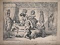 The death of Count de Peltzer; Count de Peltzer is lying mor Wellcome V0041536.jpg