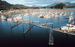 The inner harbor of Hoonah