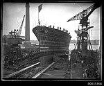 The launch of HMAS ALBATROSS I at Cockatoo Island Dockyard (8365323817).jpg