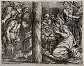 The shepherds observe the newly-born Jesus. Etching by A. Ca Wellcome V0034628.jpg