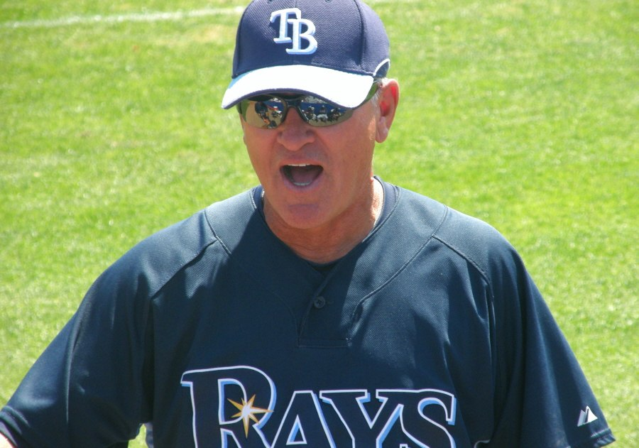 The skipper, Joe Maddon lr