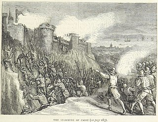 Capture of Cádiz Battle during the Anglo-Spanish War