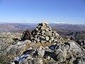 The summit cairn of Sgorr Craobh a Chaorainn - geograph.org.uk - 211782.jpg