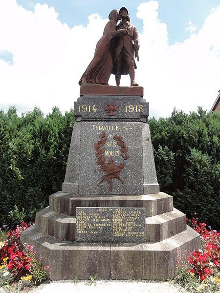 Thiaville-sur-Meurthe (M-et-M) monument aux morts