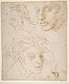 Three Heads after Michelangelo's Frescoes in the Sistine Chapel MET DP810672.jpg