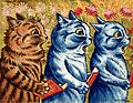 Three cats singing. Gouache by Louis Wain, 1925-1939. Wellcome L0026168.jpg