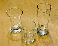 Typical modern shot glasses