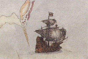 Action off Bermuda (1585) - English ship Tiger