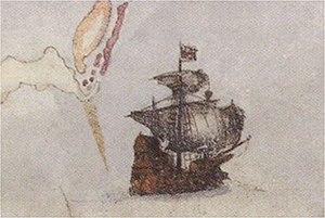 Action off Bermuda (1585) - English ship Tiger