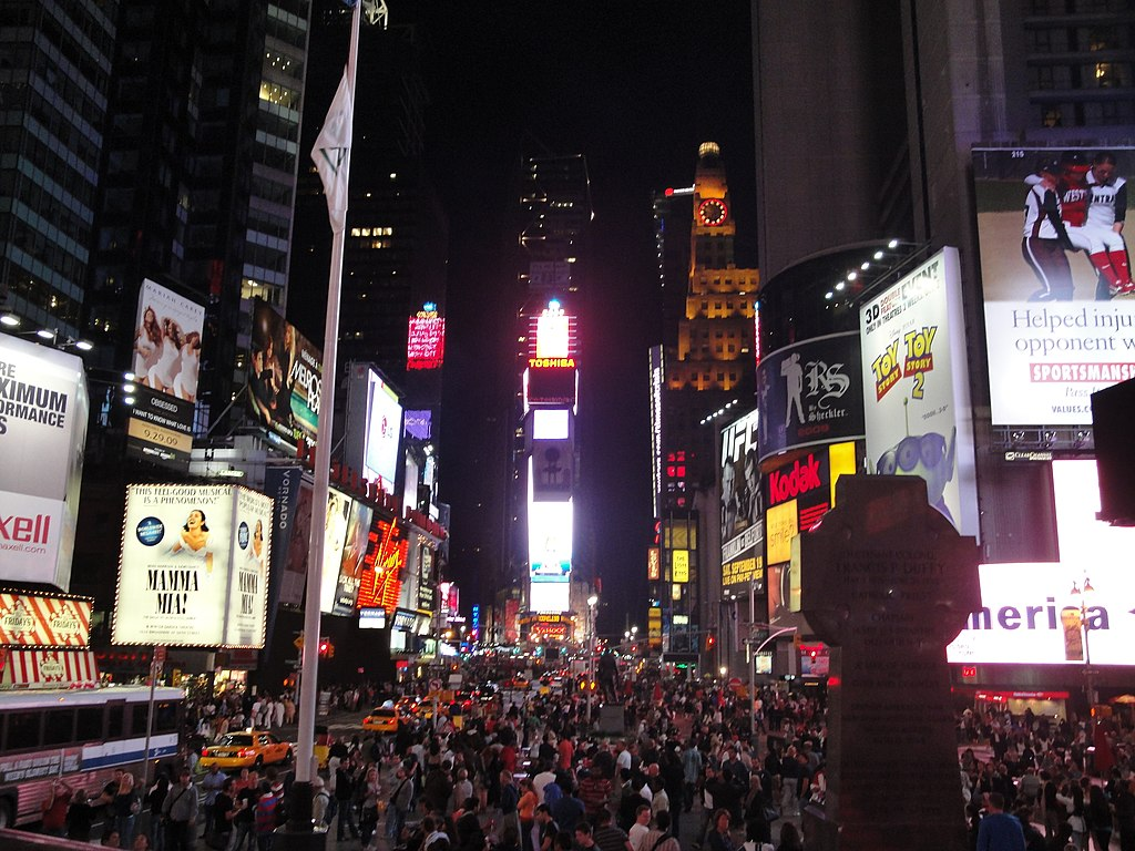 File Times Square At Night Manhattan New York City