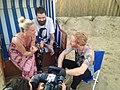 Tina Zemmrich im Interview mit Biffy Clyro beim Deichbrand-Festival 2014.jpg