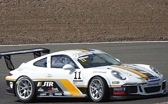 Tio Ellinas - Ellinas, at the Knockhill round of the 2017 Porsche Carrera Cup Great Britain.