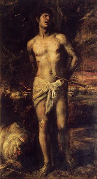 Saint Sebastian, an iconic image of martyrdom.