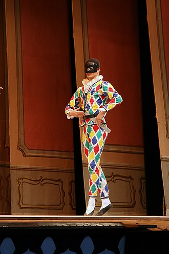 Harlequin - Harlequin at the Pantomime Theatre in Tivoli Gardens in Copenhagen, Denmark