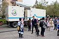 Toilet Trailer in Court of NTU Sport Center Rearright View at CWT41 20151212a.jpg
