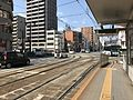 Tokaichi Crossroads from platform of Tokaichimachi Station (Main Line).jpg
