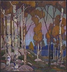 Decorative Landscape: Birches