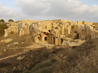 Tombs of the Kings (Paphos) - One of the numerous excavated sites at the Tombs of the Kings
