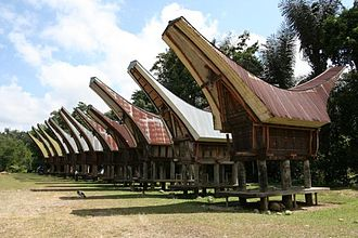 Rice barn - Tongkonan style rice barns of the Toraja peoples in Sulawesi, Indonesia