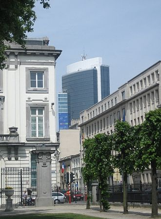 Madou Plaza Tower - Madou viewed from Brussels Park