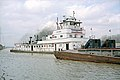 Towboat R. W. Naye upbound in Portland Canal Louisville Kentucky USA Ohio River mile 605 1999 file 99b032.jpg