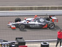 A Dallara practicing for the Indianapolis 500