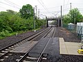 Track crossing at Branford station, May 2013.JPG