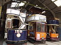 Tram Depots - National Tramway Museum - Crich - London United Tramways 159, Glasgow 22 & Glasgow 1068 (15197586209).jpg