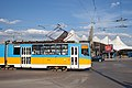 Tram in Sofia in front of Central Railway Station 2012 PD 006.jpg