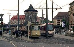 Trams near Laufer Tor, Nurnberg - geo.hlipp.de - 4459.jpg
