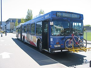 99 B-Line - A 99 B-Line bus on layover at UBC Exchange