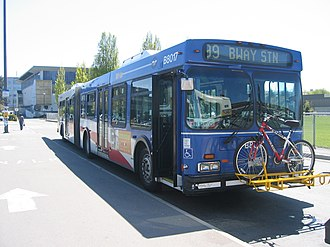 Coast Mountain Bus Company - The 99 B-Line is one of the busiest bus routes in North America with an average weekday ridership of 56,000 passengers as of 2016