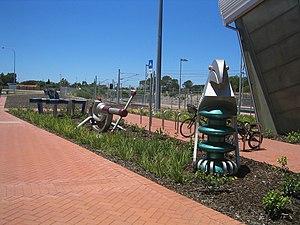 Rockingham railway station, Perth - Decorations in December 2007