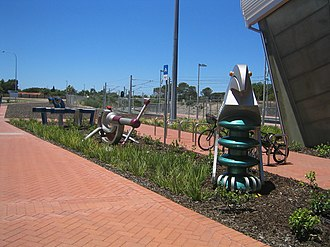 Rockingham railway station, Perth - Decorations in December 2007
