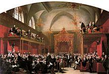 George Hayter, Der Prozess der Königin Caroline, 1820 (Quelle: Wikimedia)