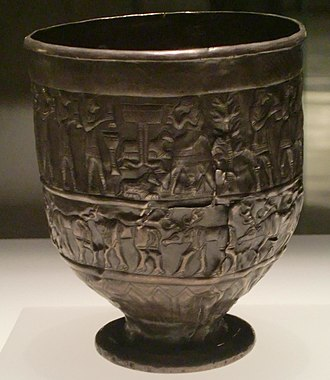Dali (goddess) - Seated figure and procession on the front of the Trialeti Cup