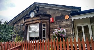 Edinburgh, Leith and Newhaven Railway - Former station at Trinity, now a private house.