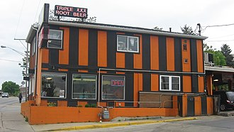 Duane Purvis - The XXX Family Restaurant in West Lafayette, Indiana, home of the Duane Purvis burger.