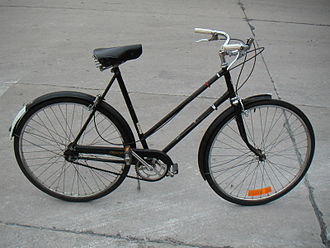 A Triumph with a step-through frame Triumph Bicycle.JPG