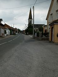 The main road of Troisvaux