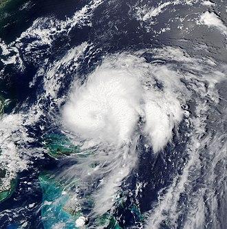 2011 Atlantic hurricane season - Image: Tropical Storm Bret jul 18 2011 1755Z