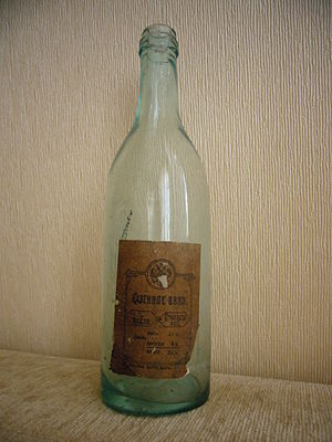 Authentic Russian vodka bottle, early 20th cen...